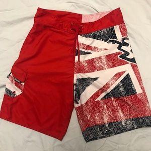 Da Hui Hawaiian North Shore Board British Shorts